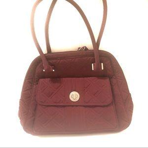 Vera Bradley Quilted Solid Maroon Medium Hand Bag